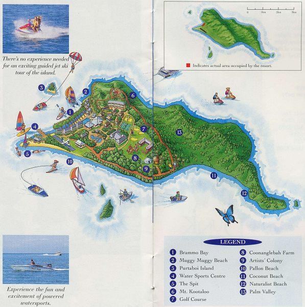 Dunk Island Australia: Dunk Island Map
